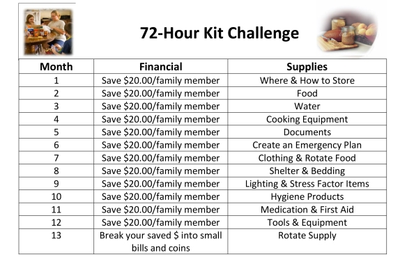 72-Hour Kit Intro