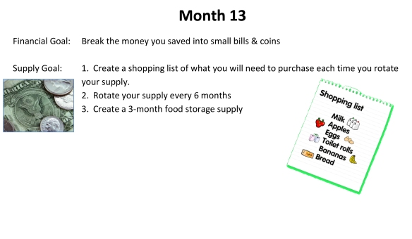 72-Hour Supply Kit Month 13